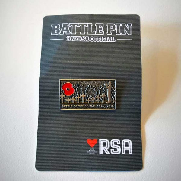 RSA Battle Pin - Somme