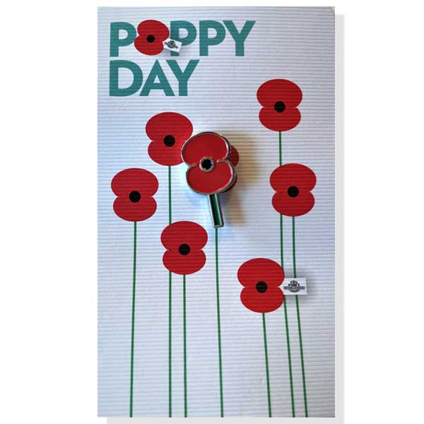 Poppy Pin of Remembrance